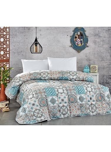 Komfort Home Çift Kişilik PolyCotton Yorgan + 2 Yastık / V3 Renkli